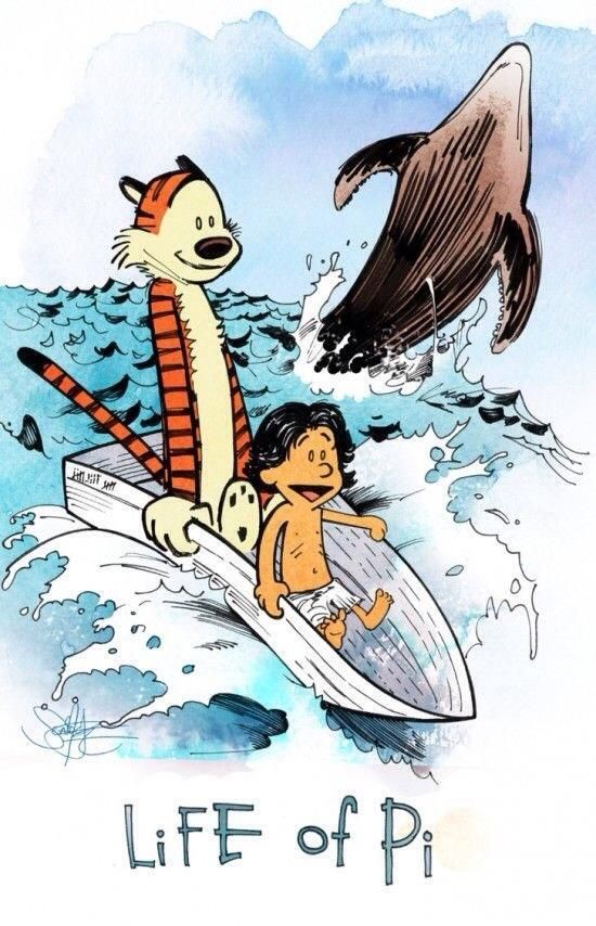 Life of Pi Calvin and Hobbes style! Life of Pi Calvin and Hobbes style!