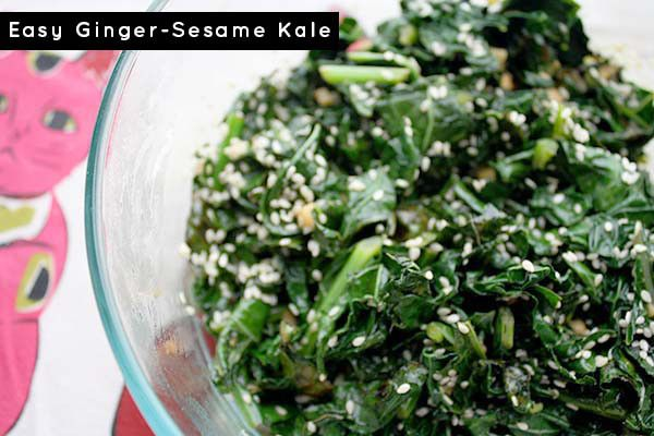 It's kale season! Honestly, I could eat kale every single day, and this simple gingered kale recipe is a frequent star in our kitchen.