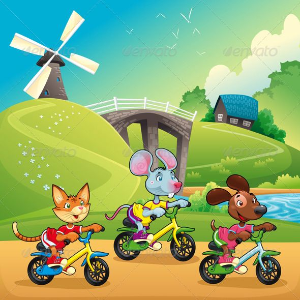 Pets Going for a Ride in the Countryside  #GraphicRiver         Pets are going for a ride in the countryside. Cartoon and vector illustration.   Folder contains:   EPS file; High Resolution JPG file;     Created: 20August13 GraphicsFilesIncluded: JPGImage #VectorEPS Layered: Yes MinimumAdobeCSVersion: CS Tags: animal #bicycle #bike #cartoon #cat #countryside #cycle #cycling #dog #farming #landscape #meadow #mouse #nature #panorama #pedal #pet #pup #river #scenery #season #sport #spring…