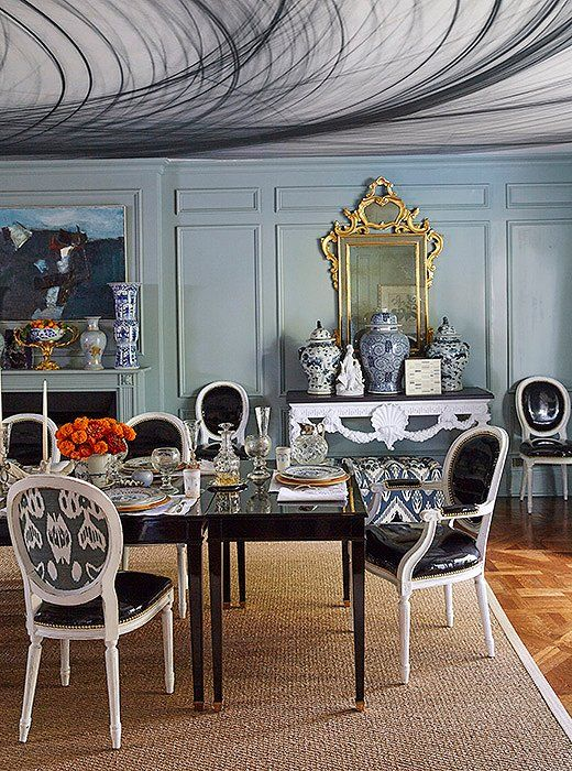 Marvelous In Her Dallas Dining Room, Michelle Upholstered Just The Backs Of Her Dining  Chairs In
