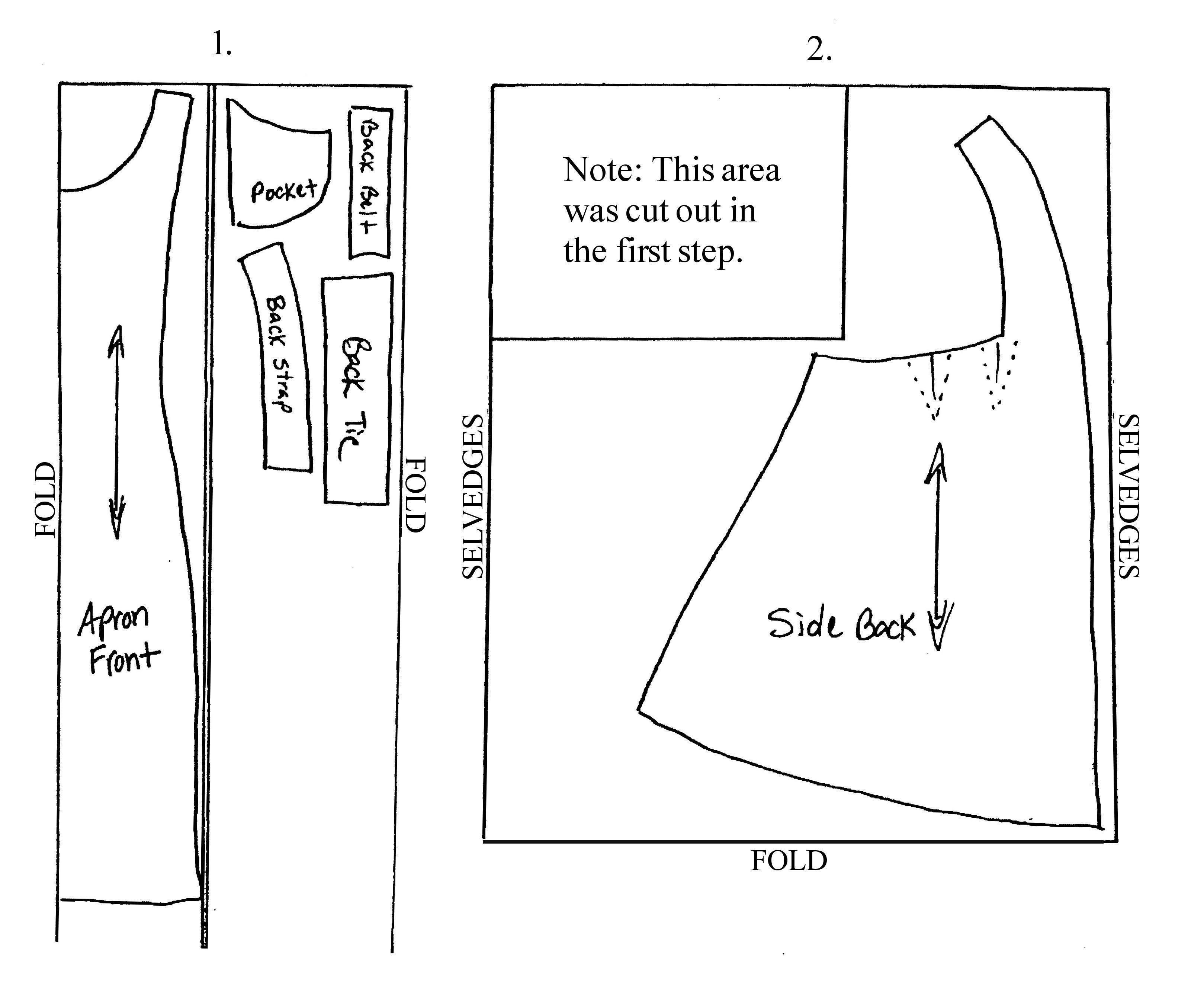 Edwardian Apron Pattern Instructions | PATRONES ROPITA DOLLHOUSE ...