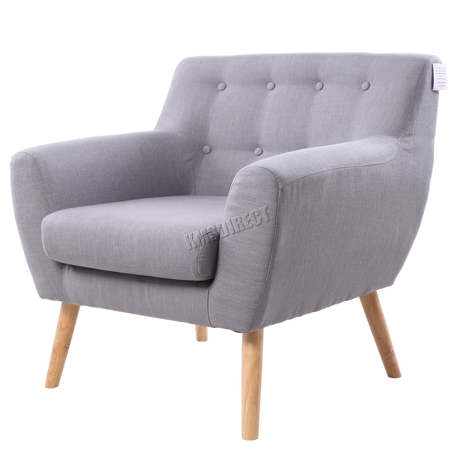 Details about WestWood Linen Fabric 1 Single Seat Sofa Tub