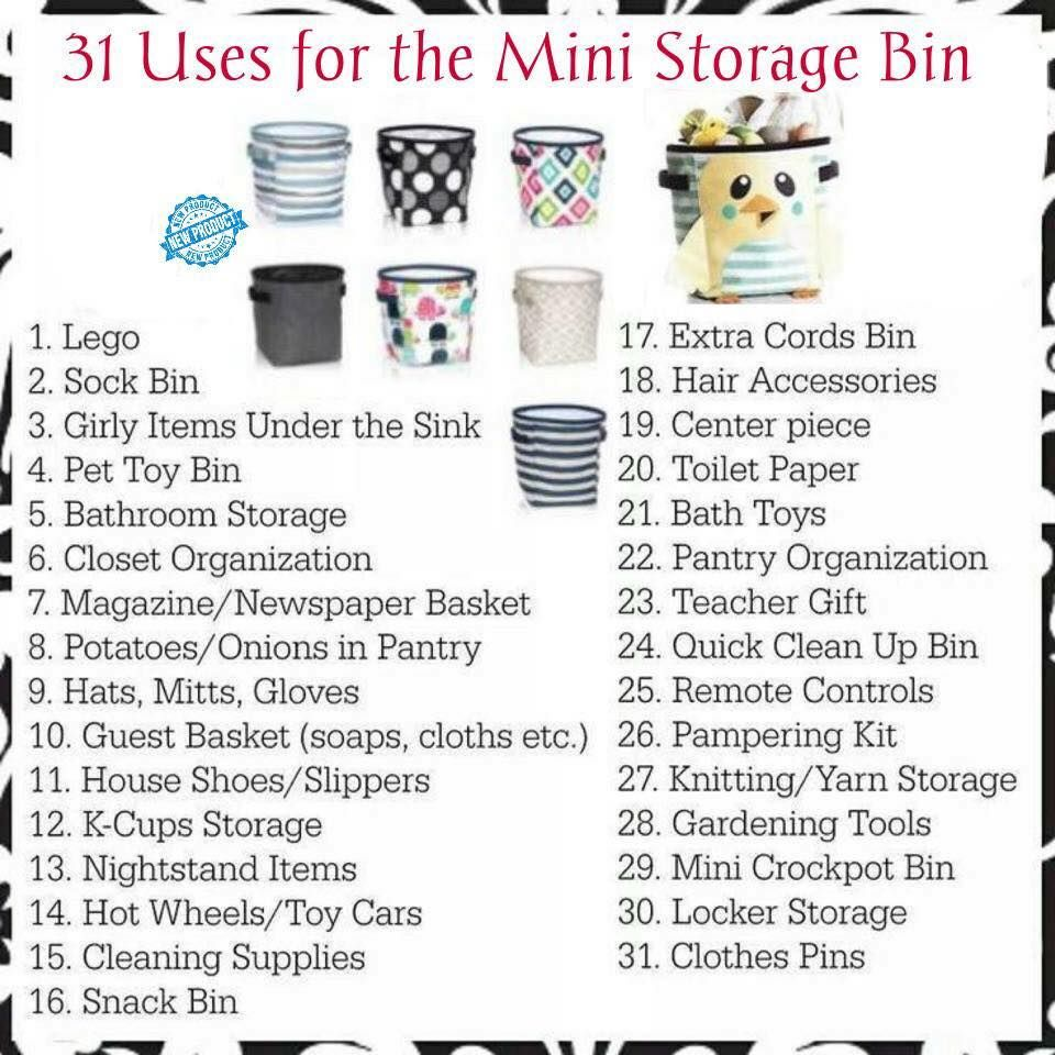 Thirty One Mini Storage Bin Www Mythirtyone Bethturner31