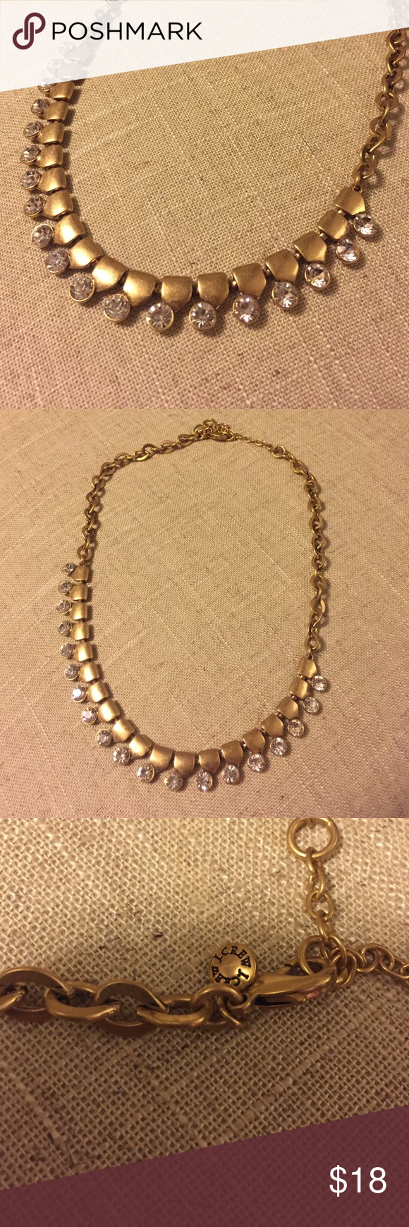 JCrew gold & silver rhinestone necklace JCrew necklace with silver rhinestone detail & gold chain. Like new, excellent condition. J. Crew Jewelry Necklaces