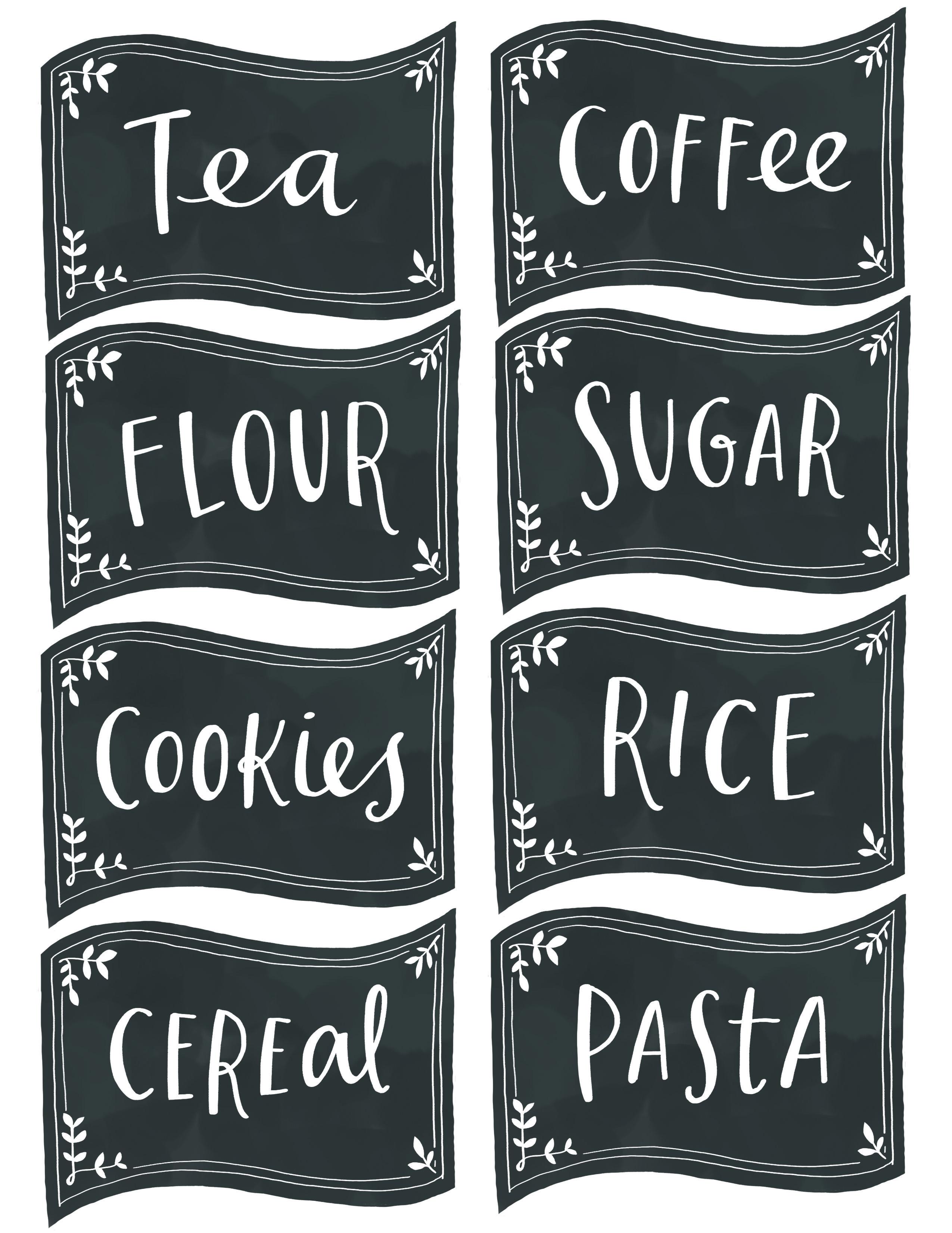 Printable Coffee Tea And Sugar Label
