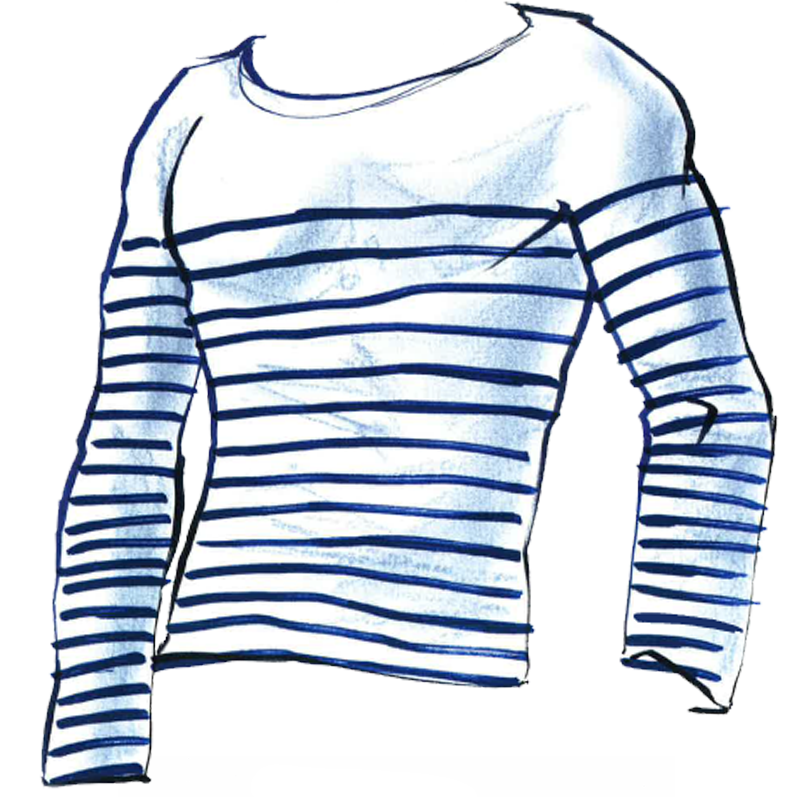 Jean Paul Gaultier | Rayures bleues, Rayures,