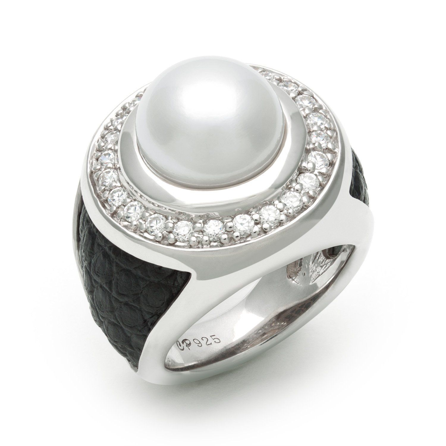 cubic zirconia freshwater rings classic engagement pin holly ring pearl