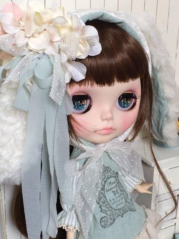 543 ミント兎のワンピ Ⅱ 洋服*Blythe*ネオブライス*outfit* - ヤフオク!