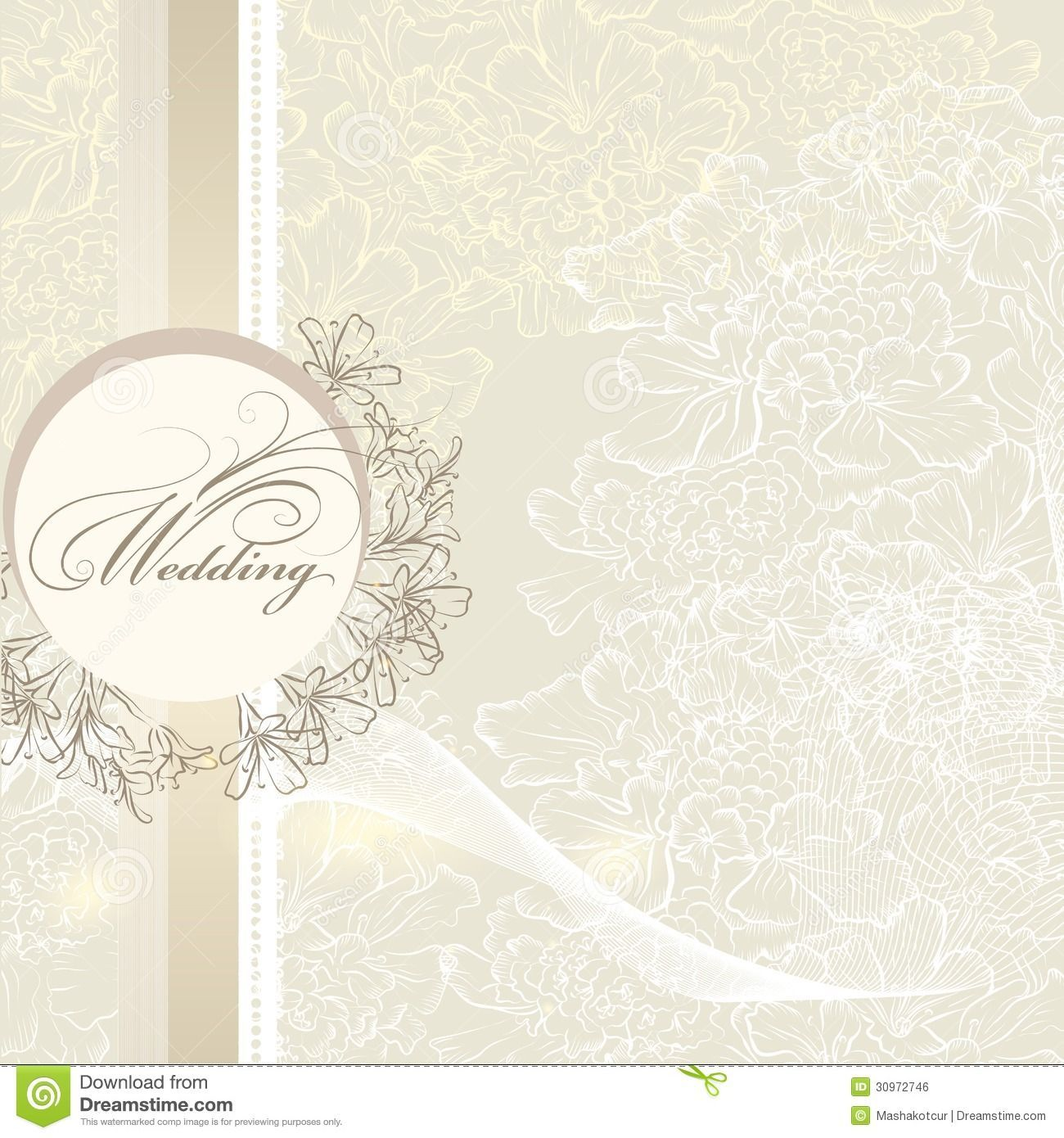 Elegant Wedding Invitation Card Template  Elegant wedding