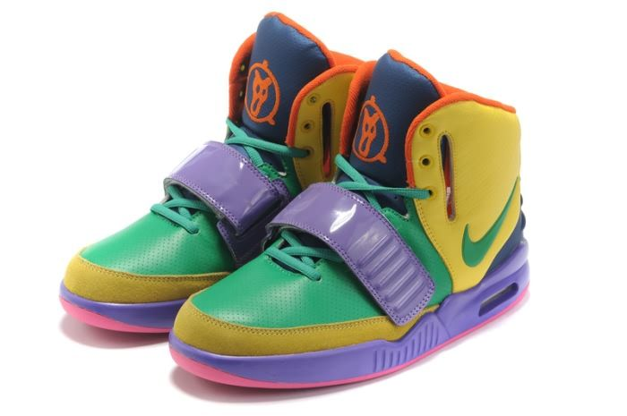 new york 01924 1a00c ... Nike Air Yeezy 2 Mens Shoes(4146) in YellowGreenPurple XY ...