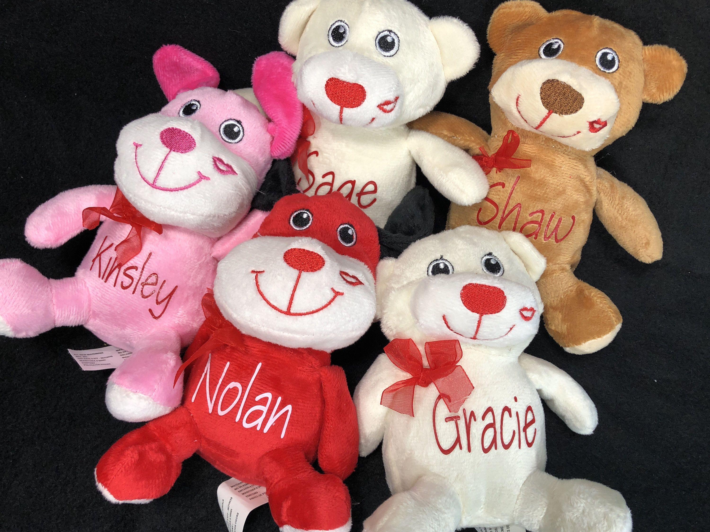 Personalized Valentine's Day Stuffed Animal, Valentine's