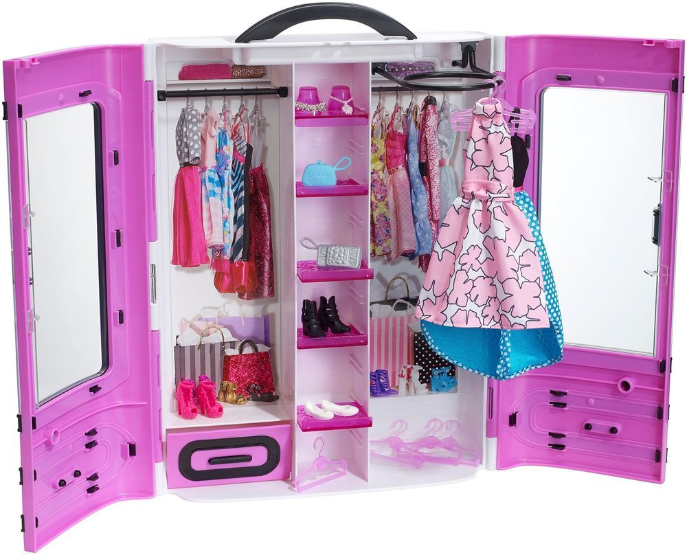 Barbie Doll Gift For Girls Kids Portable Closet Fashionistas Ultimate Christmas