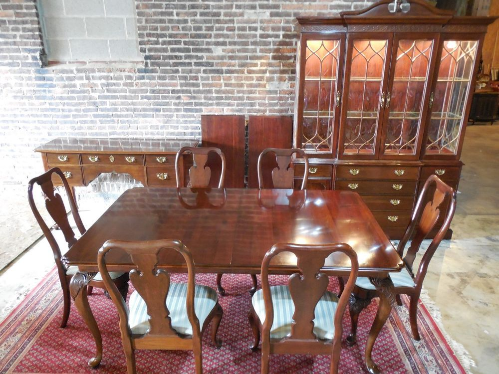 Knob Creek Georgian Chippendale Style Solid Cherry 9 Piece Dining
