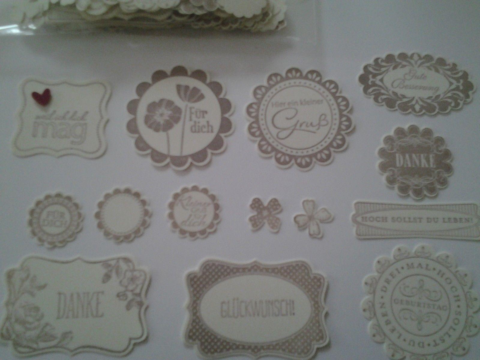 Stampin up Stanzteile - Etiketten | eBay