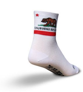 KCOSSH California flag bear Crazy Crew Socks Cool Calf Sock for Men