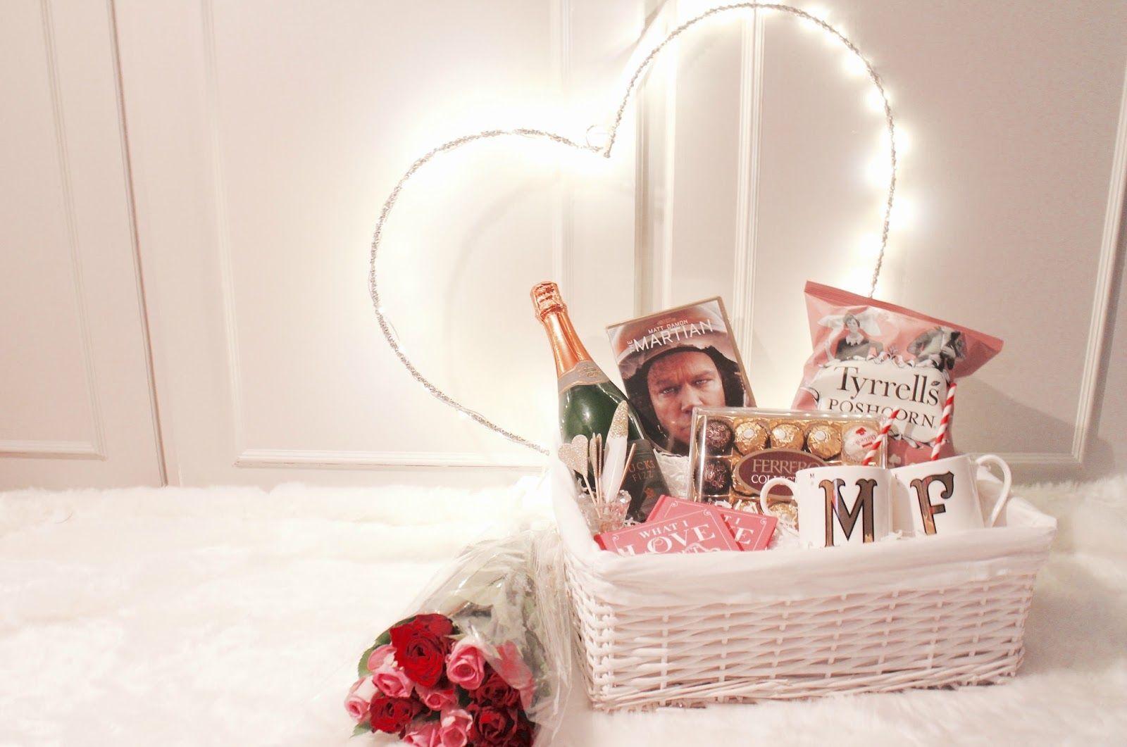 Easy Valentines Hamper Romantic Hamper Ideas Last Minute
