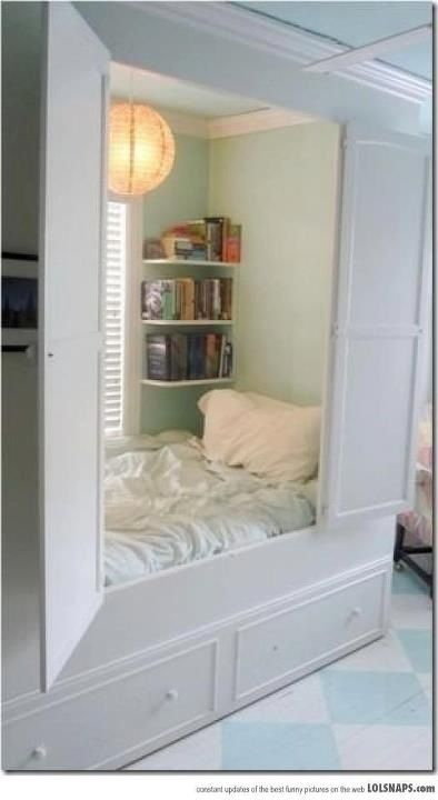 bed in a room