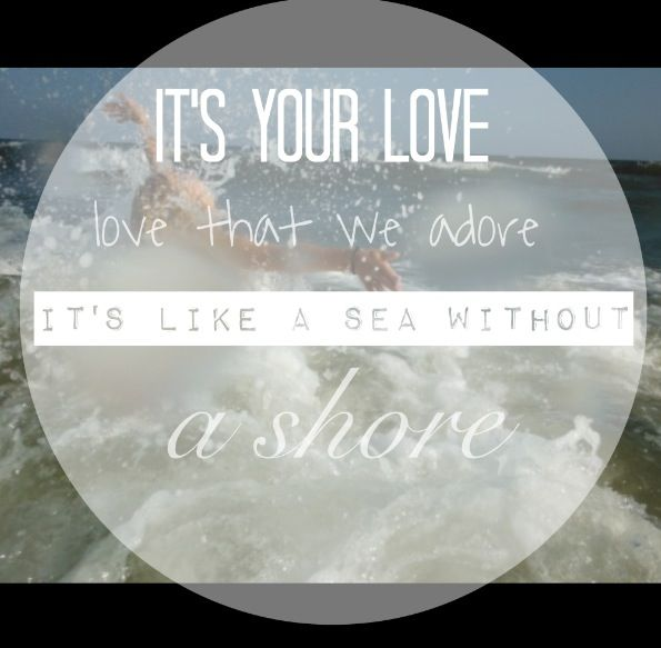 It's your love that we adore, we're lost in you. David crowder band