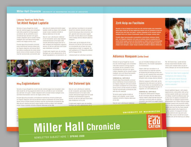 college newsletter design - Google Search Design Inspiration - Newsletter Format