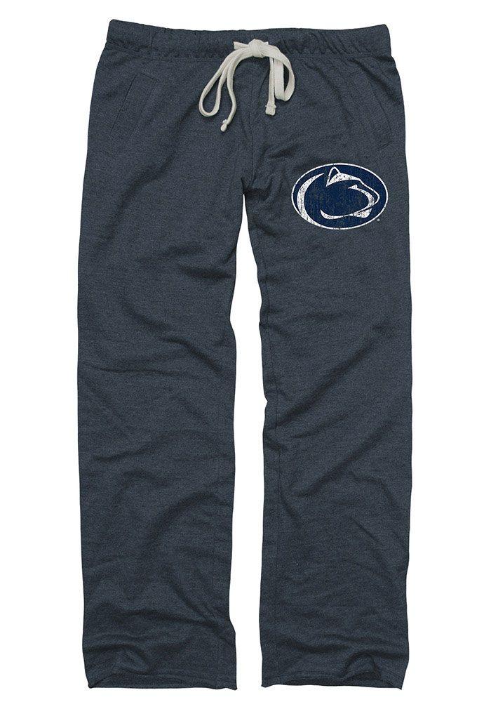 f7b16621 Penn State Nittany Lions Womens Boyfriend Logo Navy Blue Sweatpants ...