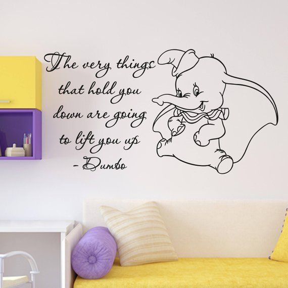 dumbo quote wall decal the very things walt disney lettering vinyldumbo quote wall decal the very things walt disney lettering vinyl sticker home room bedroom decor n