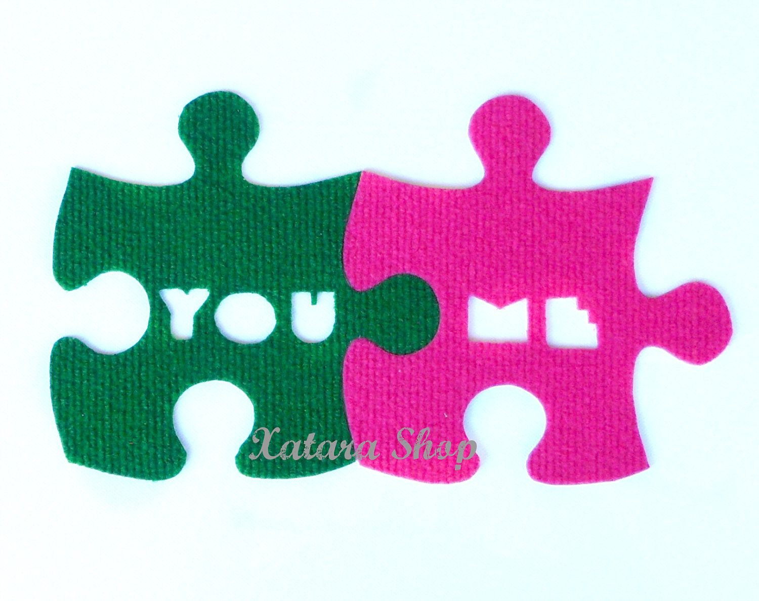 Puzzle Rug Design With Words You Me Custom Shape