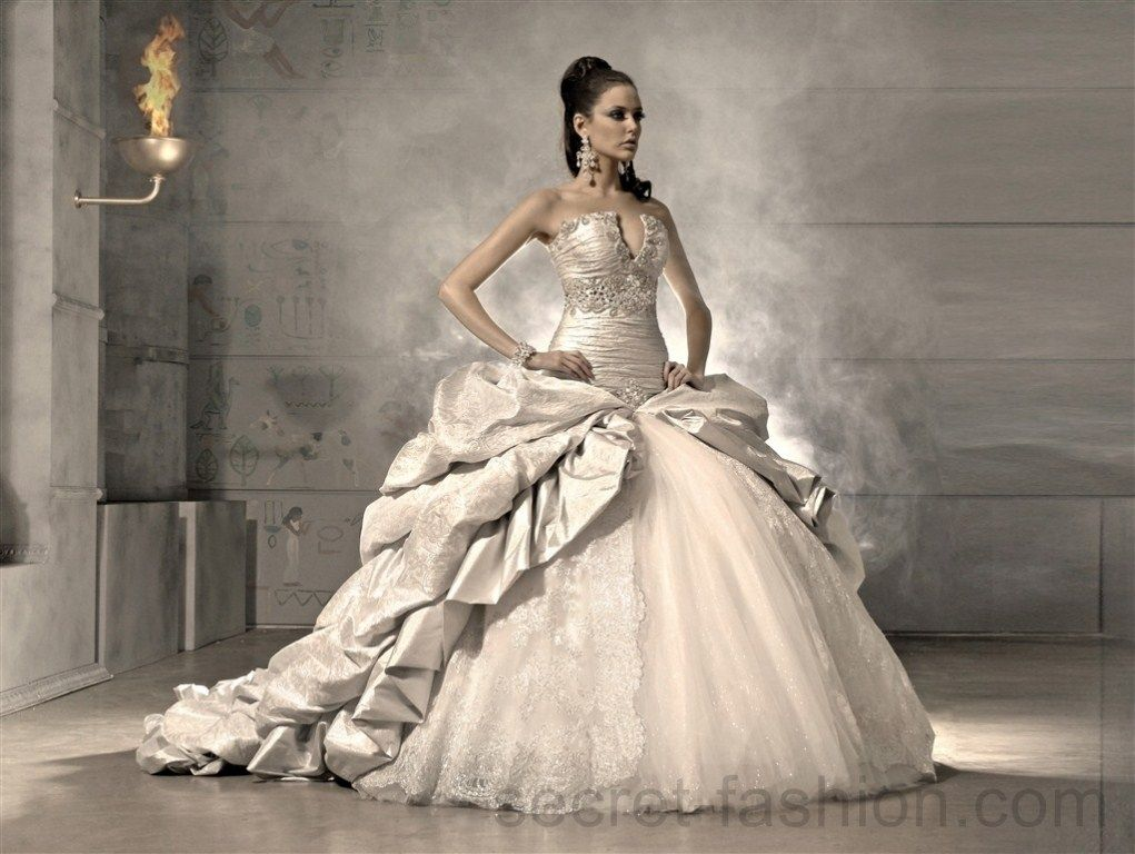 Shipping Free 2017 New Most Y Extravagant Ball Gown Wedding Dress