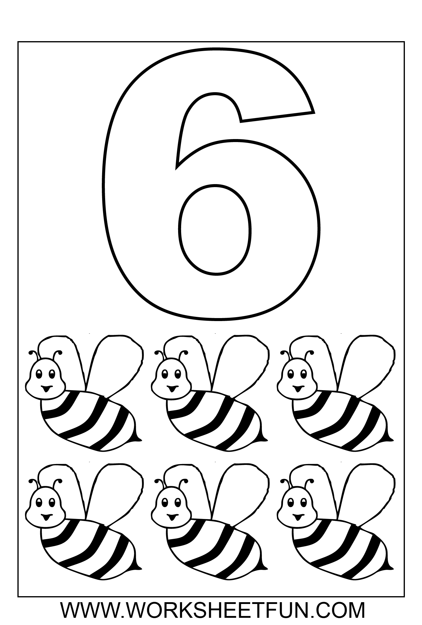 number coloring 1 10 ten worksheets - Kindergarten Coloring Page