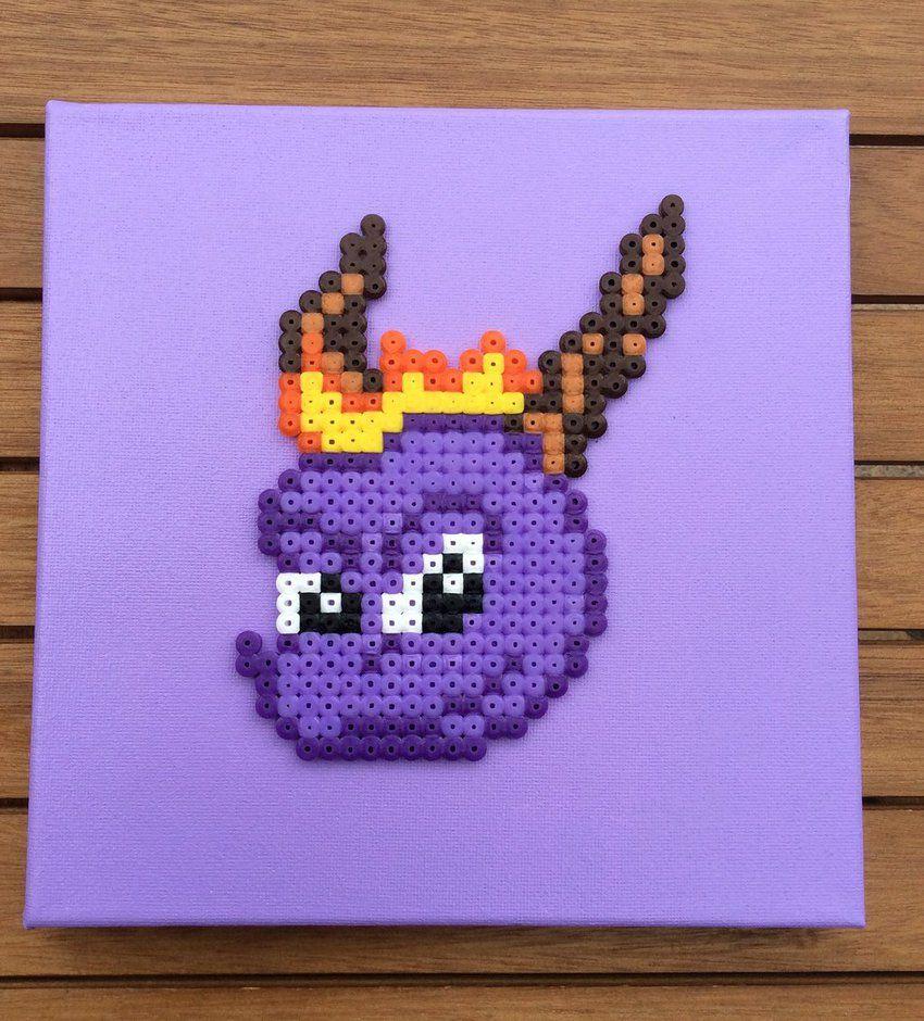 Spyro the Dragon- Hama Perler  Canvas by Dogtorwho