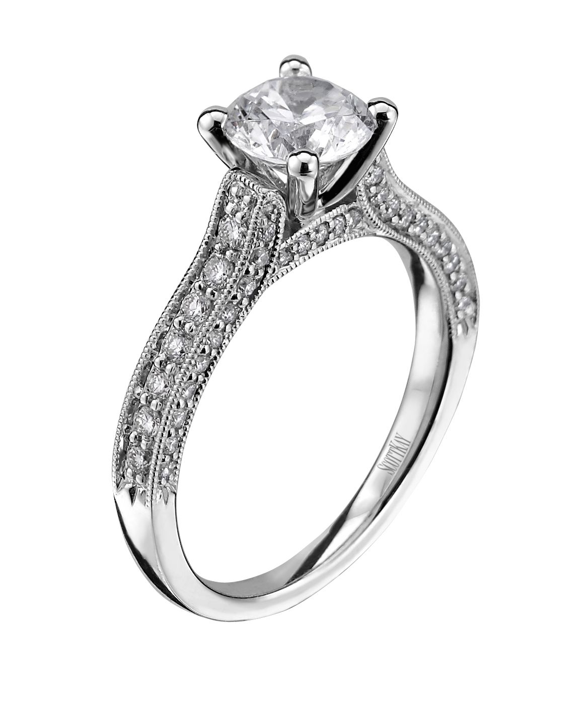 Sweet Scott Kay Ring my ring except with pear shape diamond in the middle