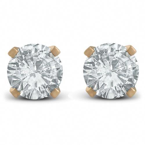 c6fb57f4f 1/3ct Diamond Studs Earrings 14K Yellow Gold, Adult Unisex, White  #goldearrings