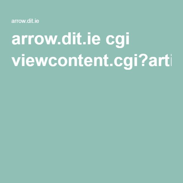 arrow.dit.ie cgi viewcontent.cgi?article=1031&context=beschreoth