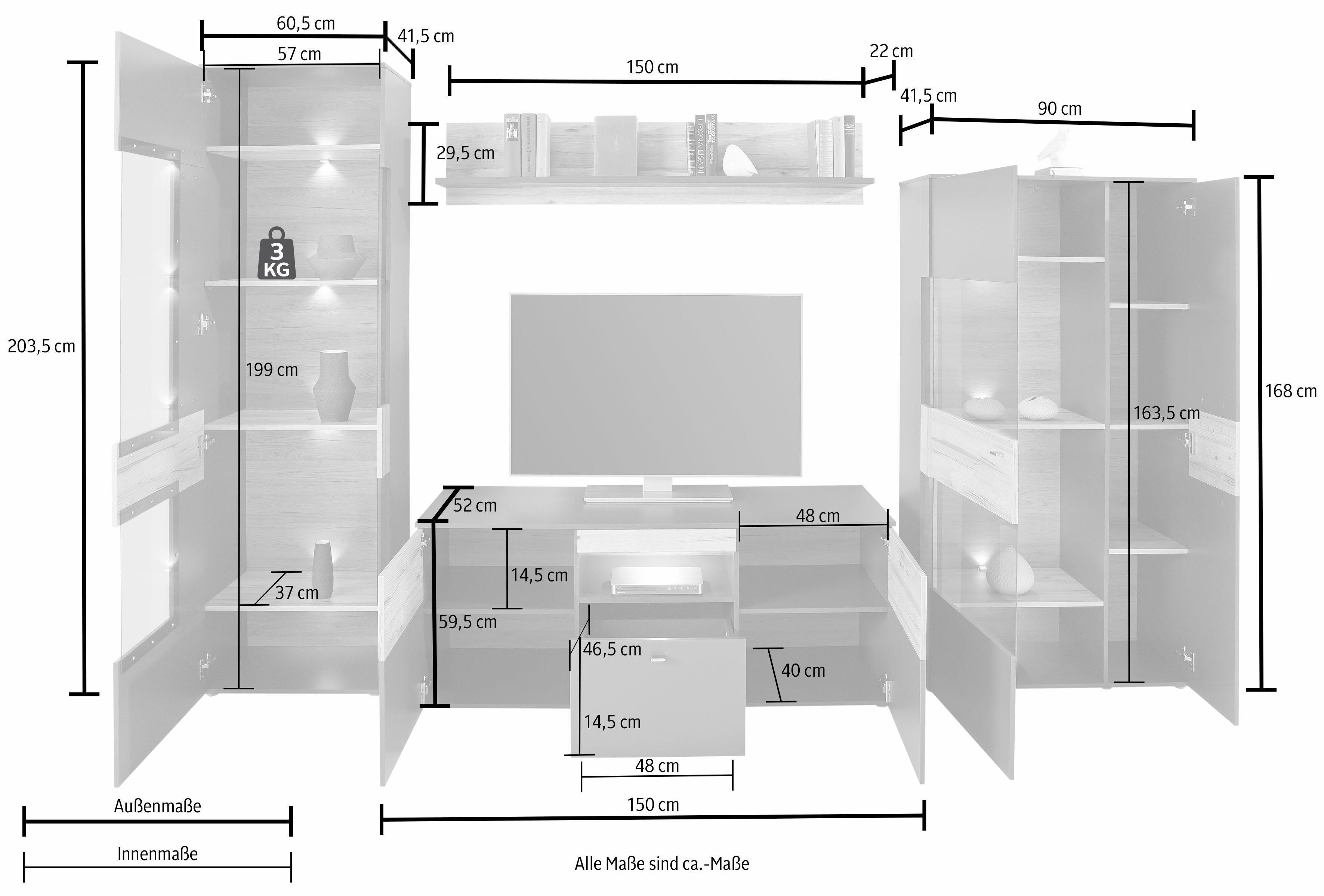 Forte Wohnwand Auf Rechnung Kaufen Bedroom Decor Home Decor Home