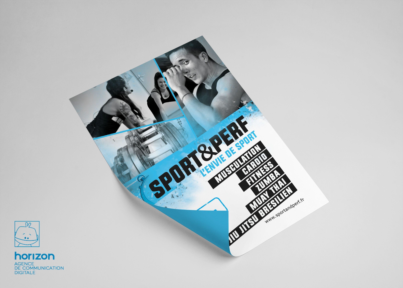 Flyer salle de sport Graphisme flyer Sport and Perf