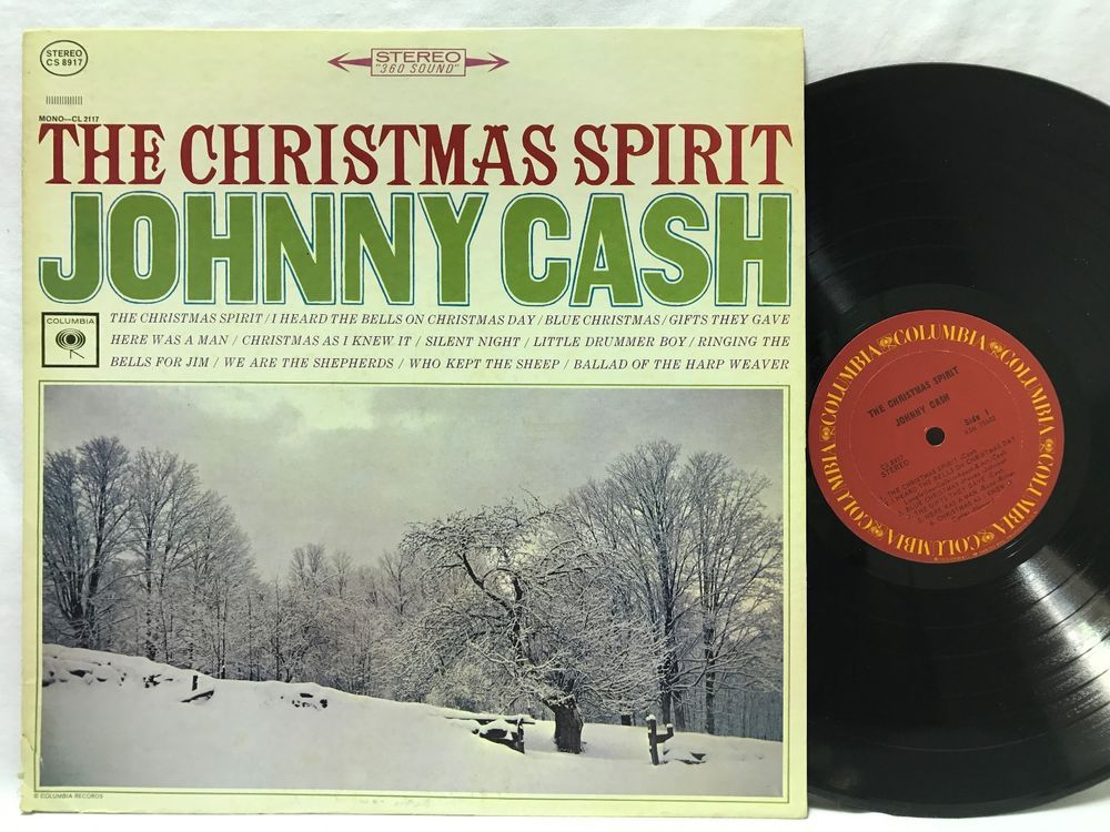 Johnny Cash The Christmas Spirit Vinyl LP CS 8917 LP Vinyl Record ...
