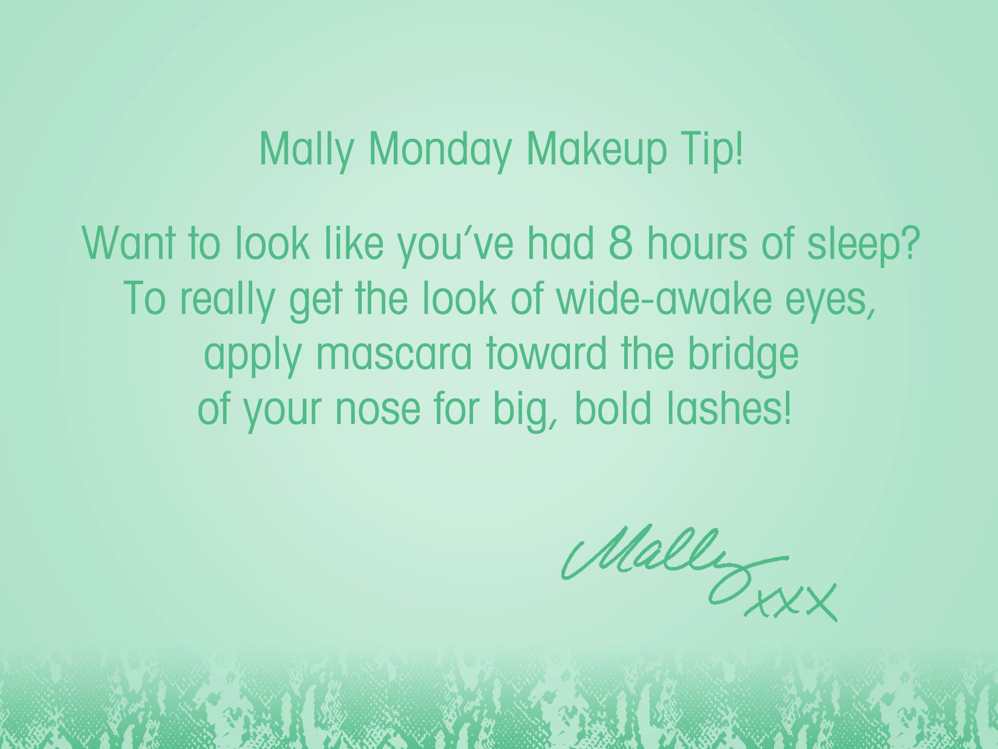 For the best, biggest lash look, try this week's #MallyMonday tip! #Mascara