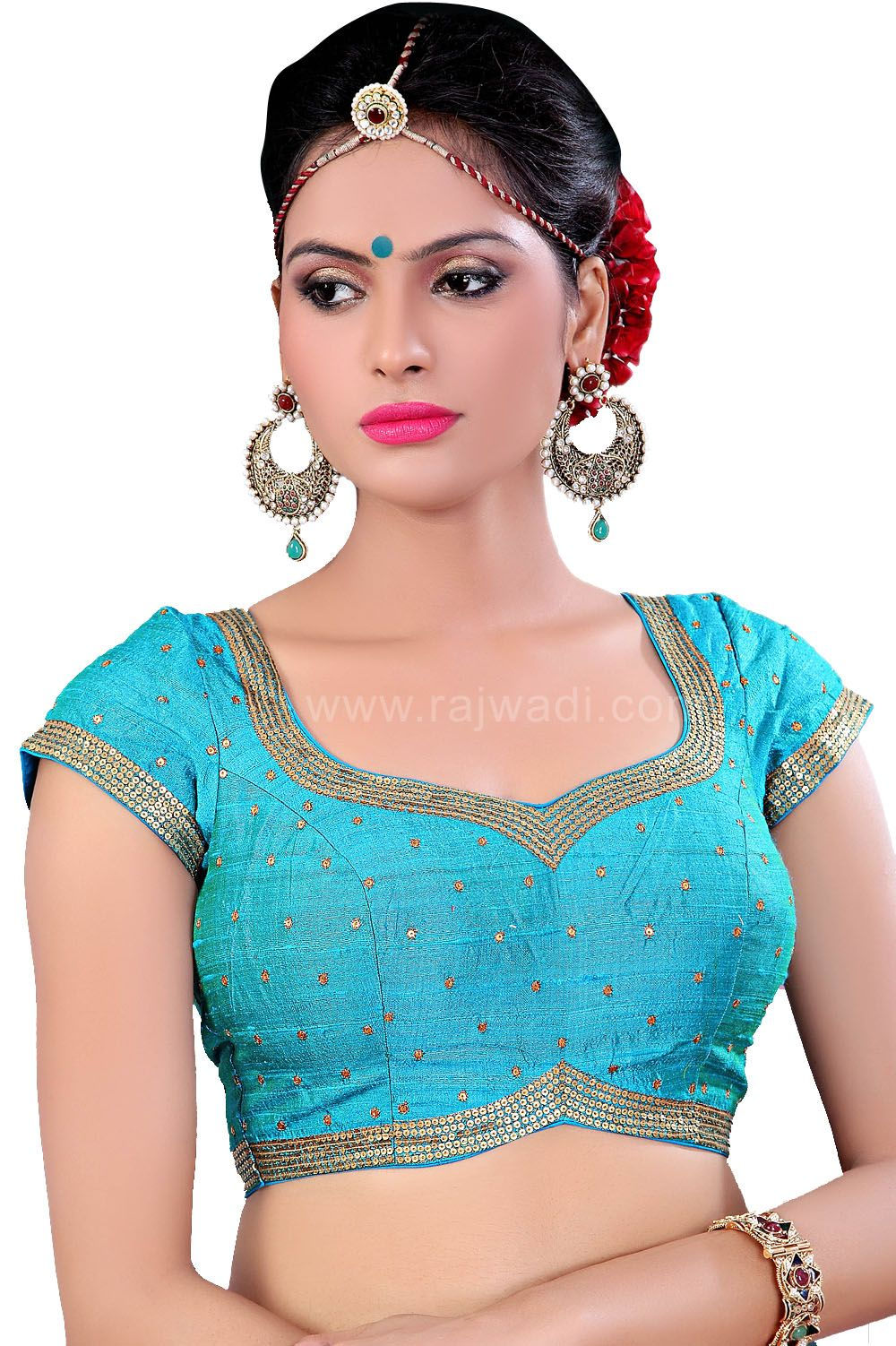 3a9d3b2465cddb Wonderful Sky Blue Coloured Ready Made Choli Saree Blouse Patterns, Saree  Blouse Designs, Blouse