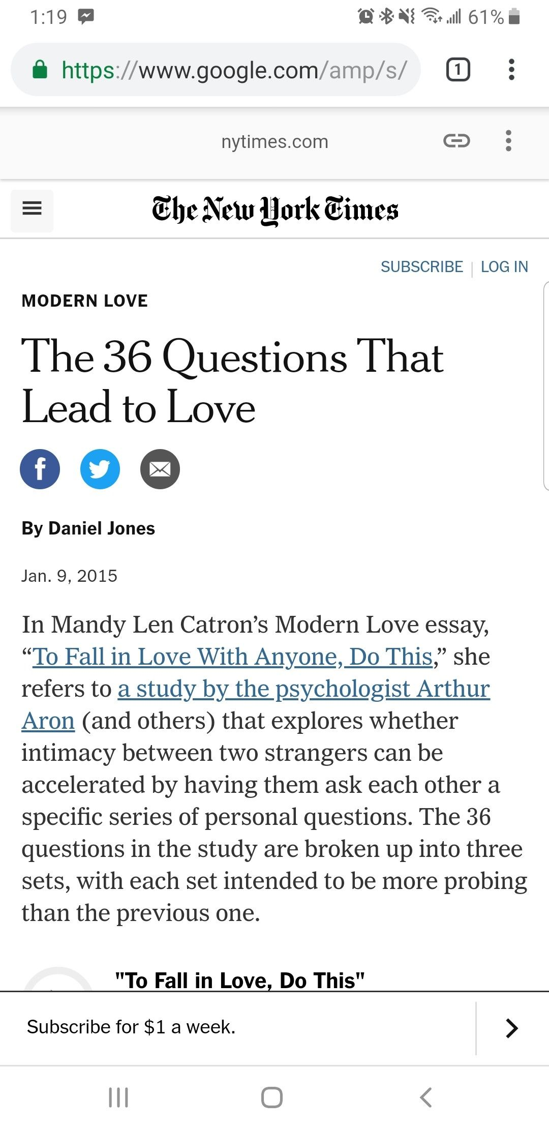 The 36 Questions That Lead To Love Published 2015 Love Essay This Or That Questions Essay