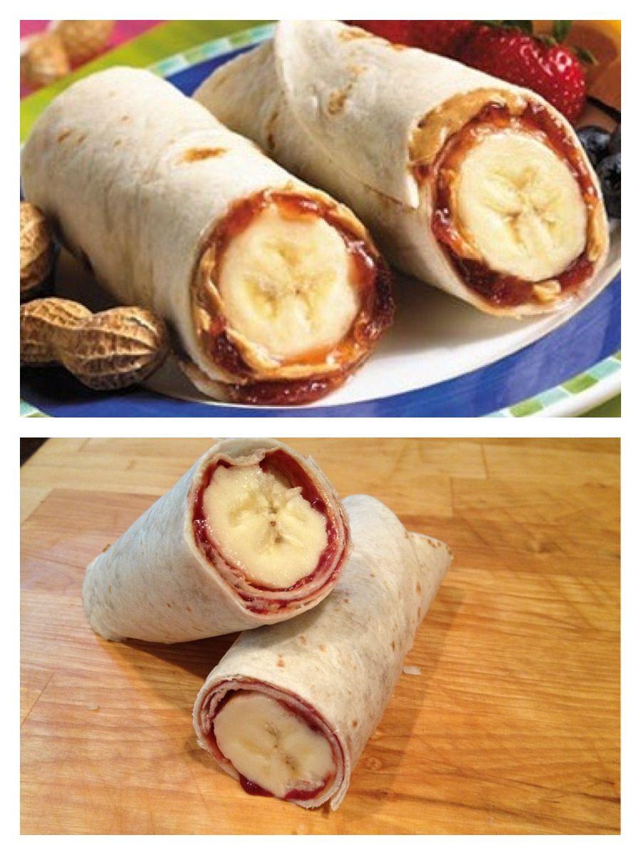 PB banana roll-ups