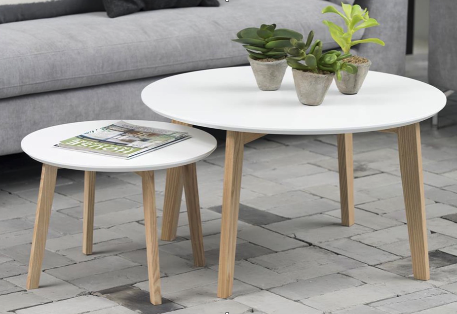 Table Basse Ronde Style Scandinave Blanche Collection Molina Table Tablebasse Deco S Table Basse Style Scandinave Table Basse Table Basse Blanche Et Bois