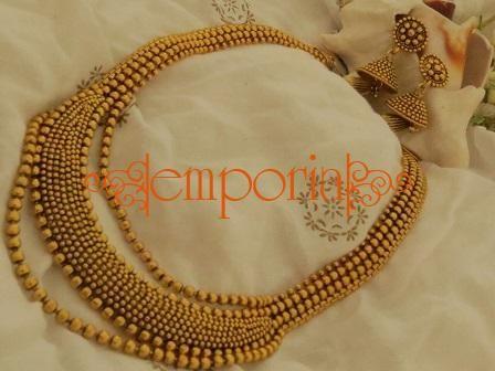 1e2dd9f58f742 Designer Golden Necklace set | J E W E L L E R Y | Golden necklace ...