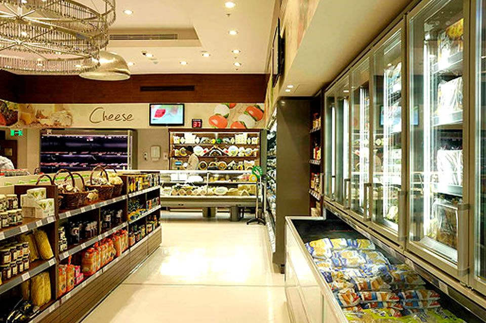 clean retail grocery store interior design of gourmet egypt cairo by eklego design egypt convenience - Convenience Store Design Ideas