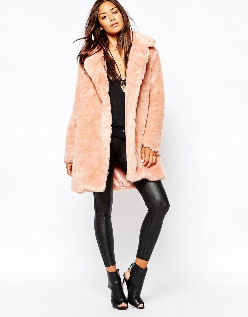 Image 4 of Missguided Faux Fur Longline Coat | My dream closet ...
