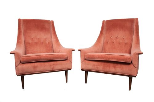 Harvey Probber Style Chairs, Pair