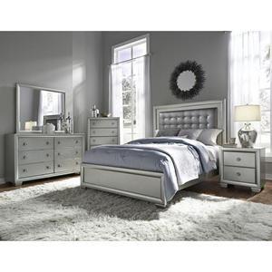 Celestial 4 Piece King Bedroom Set In Silver Nebraska Furniture