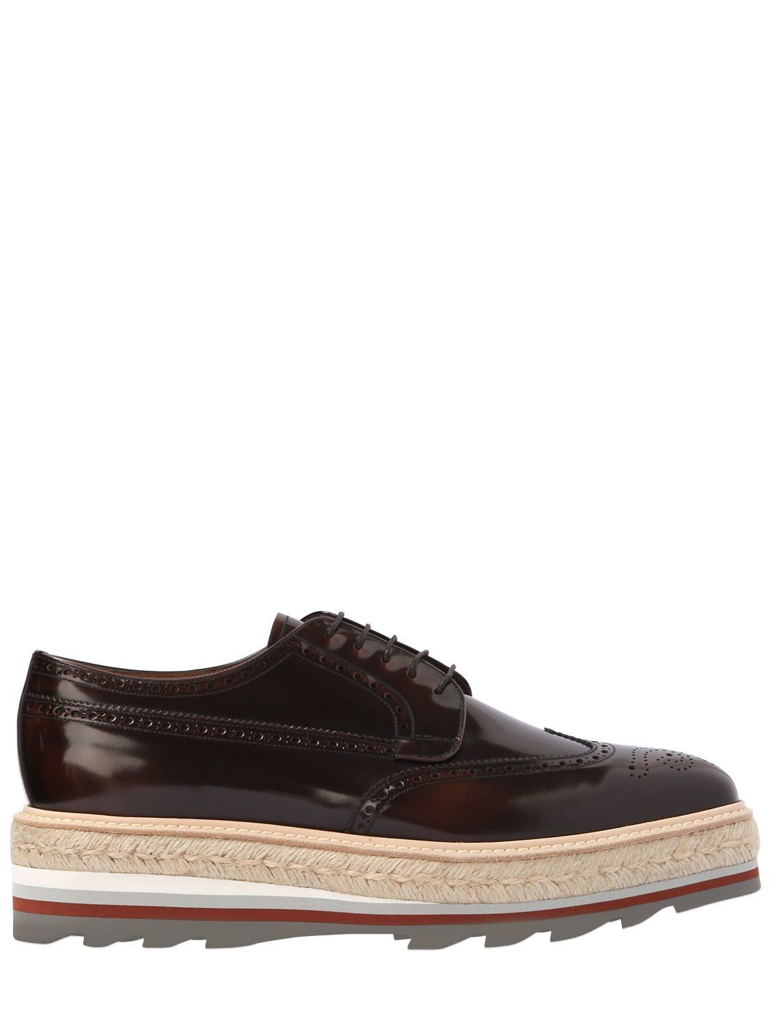 Prada OPPOSITE GRADIENT LEATHER DERBY SHOES h00lGzYqW