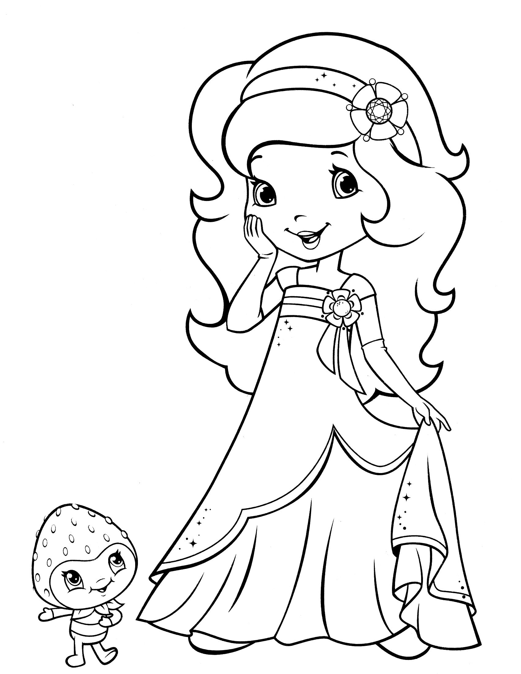 fresa para colorear Shortcake | Coloring Pages | Pinterest ...