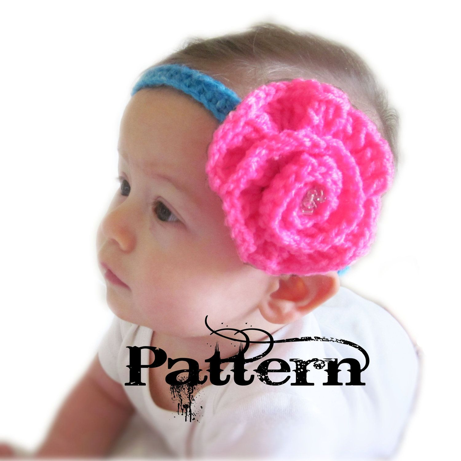 Image detail for -Crochet Baby Headband Pattern Big Flower by ...