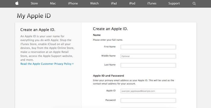 Apple ID Sign Up Register for (With