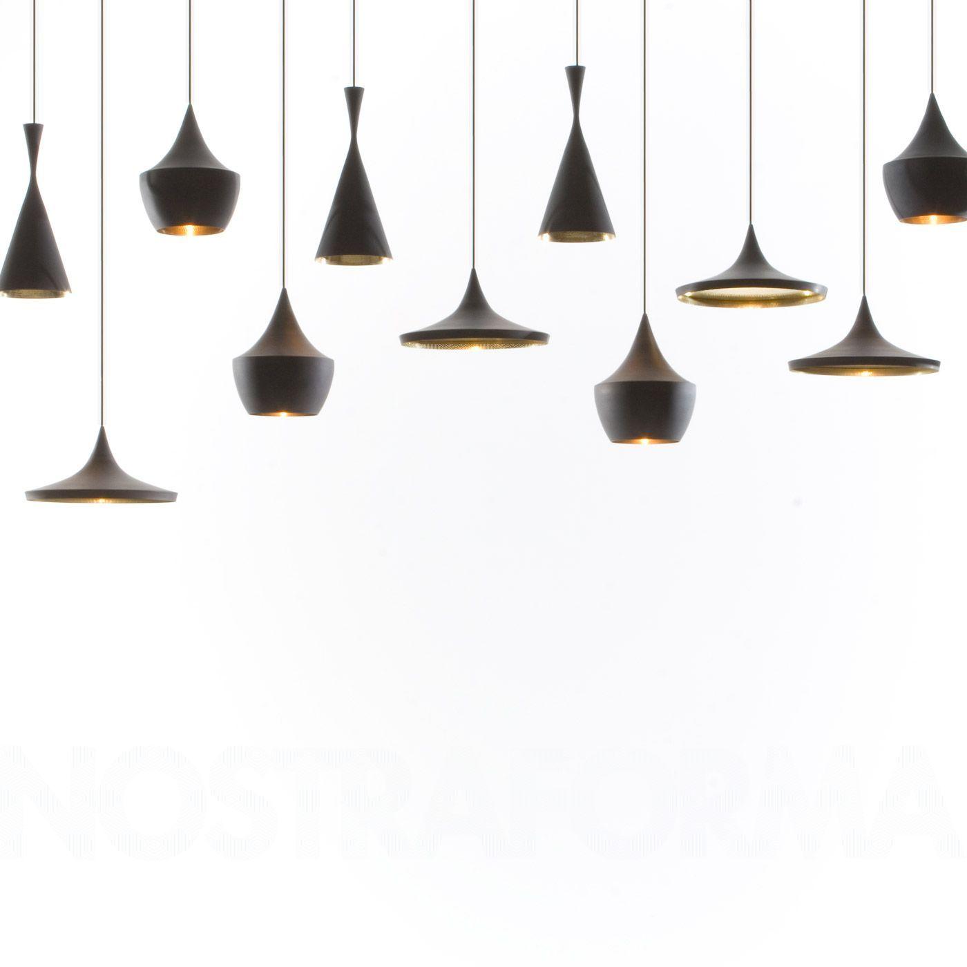 Tom Dixon Beat Light Fat - Black suspension » Design Luminaires ...